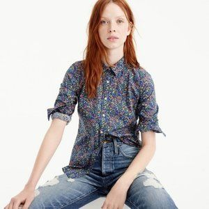 J. Crew Perfect Shirt Liberty Catesby Floral
